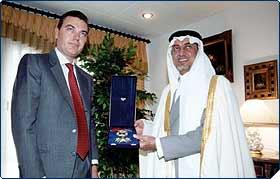 His Royal Highness The Duke of Calabria invests senior Saudi Princes into the Royal Order of Francis I 2
