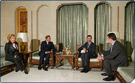 President of Syria receives the Constantinian Order delegation